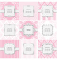 elegant frame set on different patterns in pastel vector image vector image