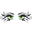 eyes with swirls vector image vector image