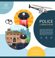flat police composition vector image