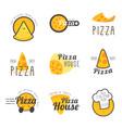 fresh italian pizza vector image vector image