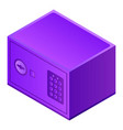 home safe icon isometric style vector image vector image