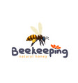 honey bee icon for beekeeping product vector image vector image