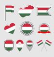 hungary flag icons set symbols flag vector image