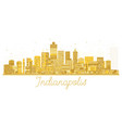 indianapolis usa city skyline golden silhouette vector image