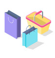 isometric 3d colorful packages and vector image vector image