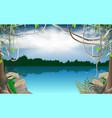 landscape river in jungle vector image