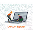 laptop repair vector image vector image