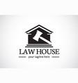 law house logo template design emblem design vector image