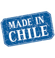 made in Chile blue square grunge stamp vector image vector image