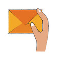 mail envelope symbol vector image vector image