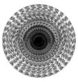 mandala pattern black hole vector image