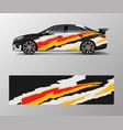 modern stripe for racing car wrap sticker vector image vector image