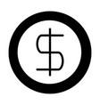money coin dollar vector image