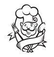 monochrome chef design vector image vector image