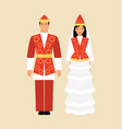 national costume of kyrgyzstan vector image vector image