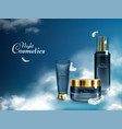 night cosmetics line realistic banner vector image vector image