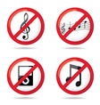 No sign prohibited vector image vector image