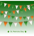Patrick day card with flag garland vector image vector image