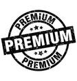premium round grunge black stamp vector image vector image