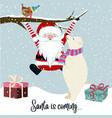 santa is coming vector image vector image
