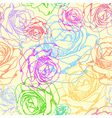 Seamless pattern with flowers roses vector image vector image