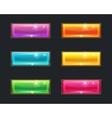 set cartoon long crystal horizontal buttons vector image
