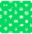 set of diet and healthy life style theme icons vector image vector image