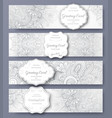 set of wedding banners pages ornament vector image vector image