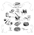 Simple Apple pie recipe Step by stepHand drawn vector image vector image