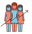 teamwork people group progress arrows vector image vector image