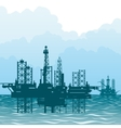 The oil-producing platforms vector image