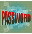 The word password on digital screen business vector image vector image
