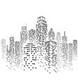 urban cityscape silhouette vector image
