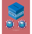 Usa Election 2016 Every Vote Counts vector image vector image