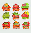 vegetables logo vector image vector image