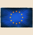 vintage european union flag poster background vector image vector image
