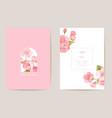 wedding cherry floral card exotic sakura vector image vector image