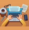 writer writes document journalist create vector image