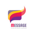 message - creative background vector image