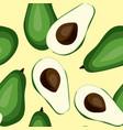 seamless avocado pattern tile green vegetable vector image