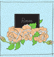cute roses on light blue vector image
