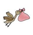 stork bird cartoon vector image