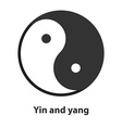 Icon of Yin Yang symbol Taoism buddhism daoism vector image