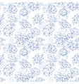 abstract geometric pattern in blue color vector image vector image