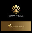 abstract round stripe ornament gold logo vector image vector image