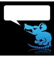 Angry rat speech bubble vector | Price: 1 Credit (USD $1)