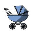 baby carriage cartoon vector image