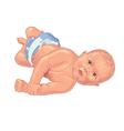 Baby rolling on floor vector image vector image