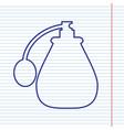 black perfume icon set perfume icon object vector image