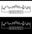 budapest skyline linear style editable file vector image vector image